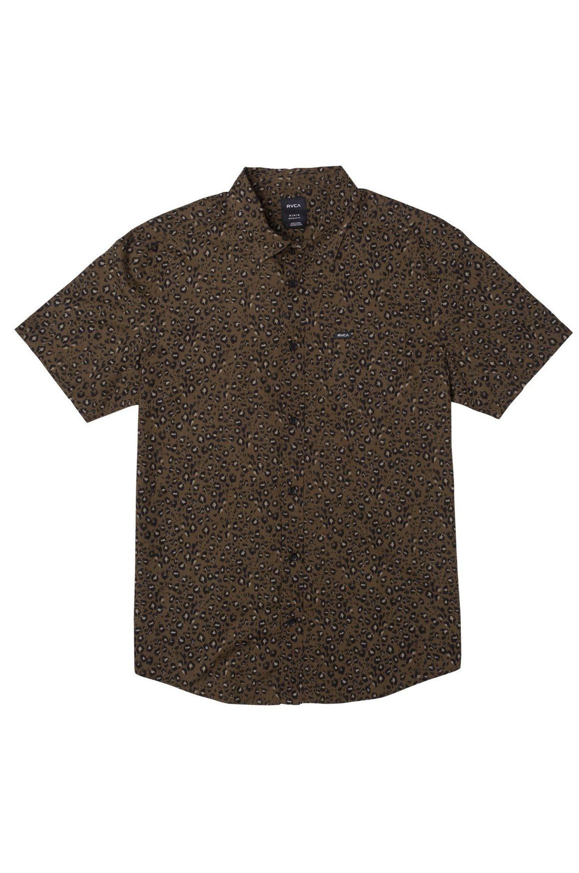 Camisa RVCA NO FUN SS Bombay Brown