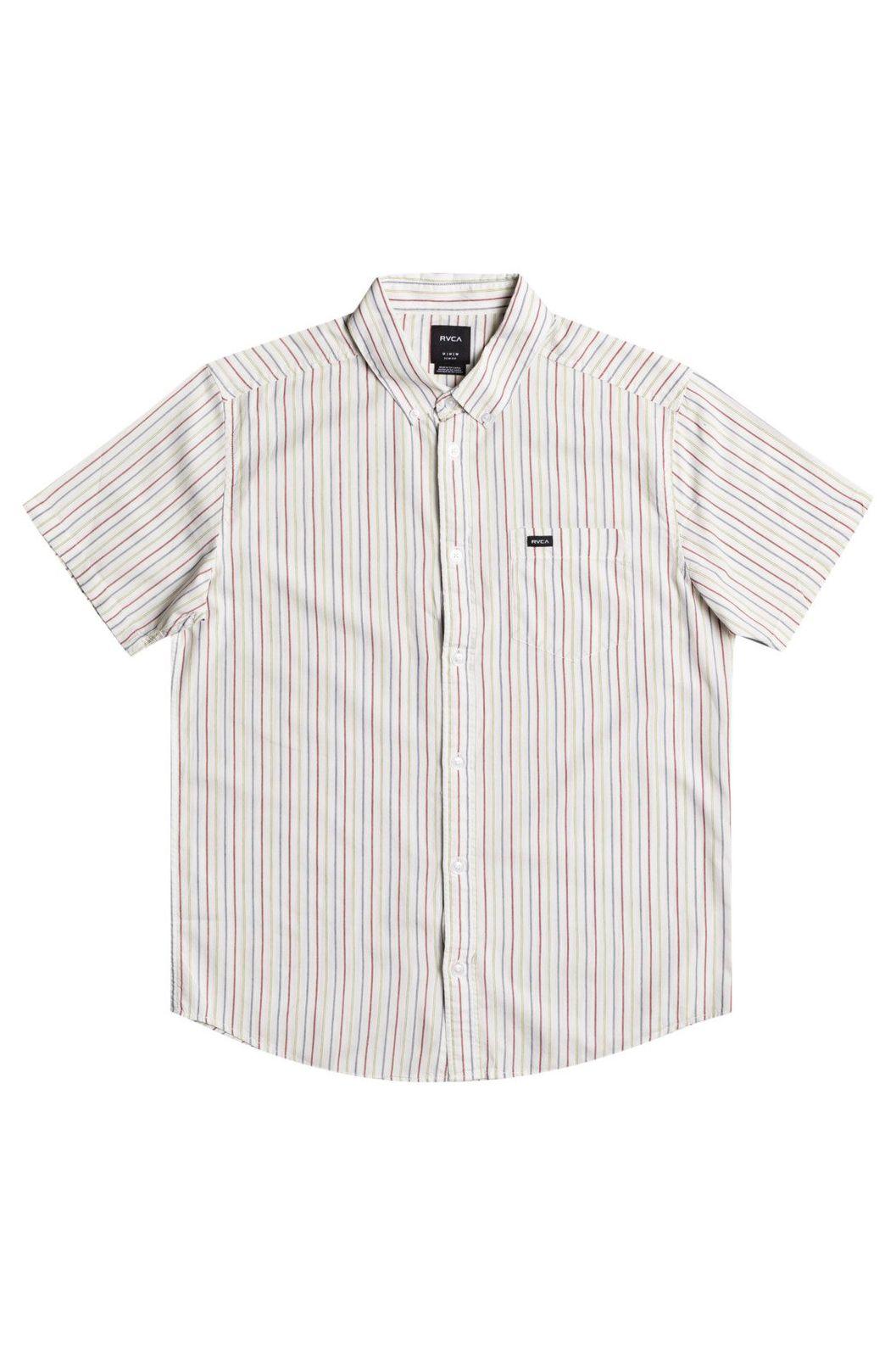 RVCA Shirt CASSIDY STRIPE SS Antique White