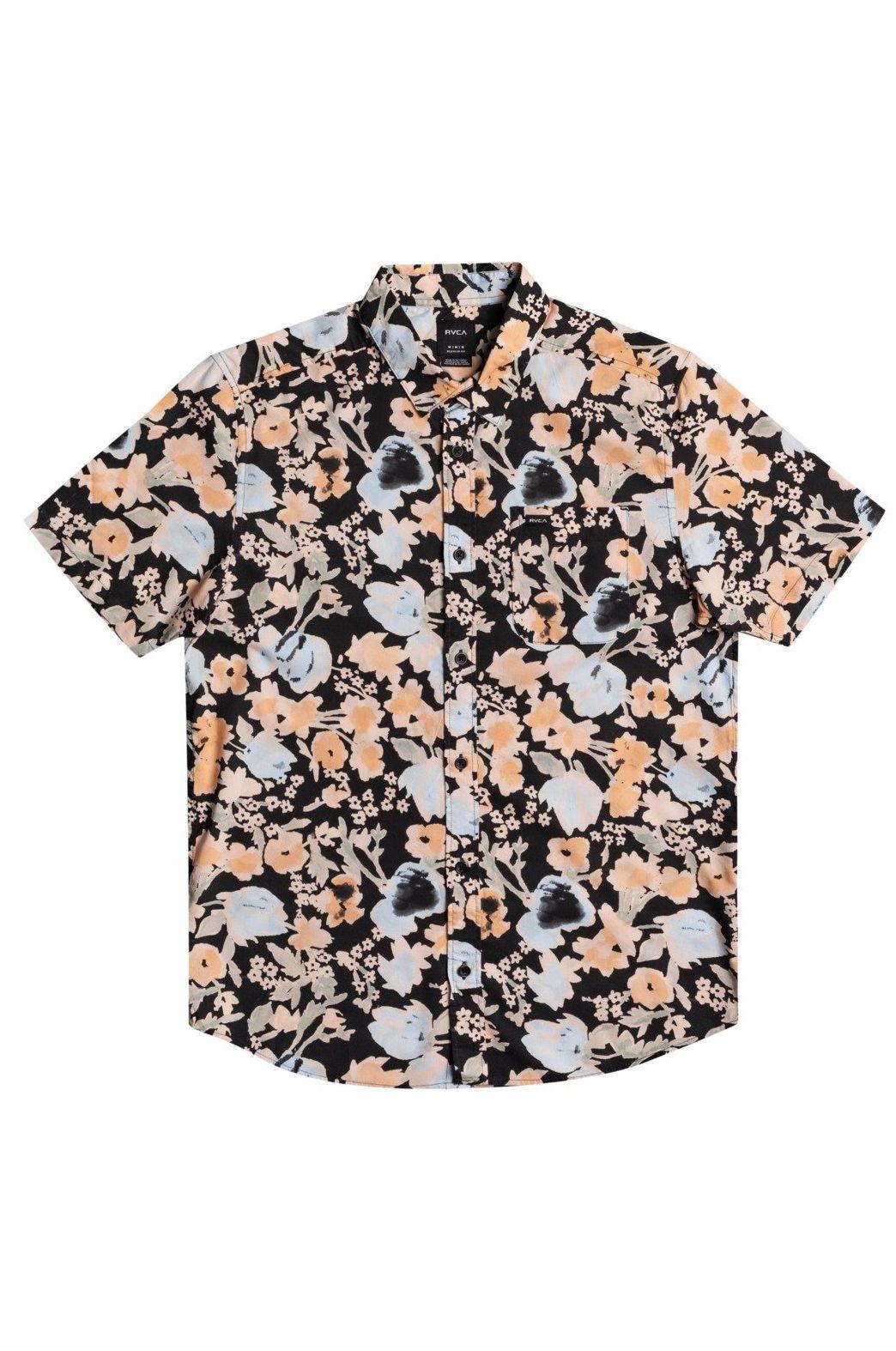 RVCA Shirt PRESSURE DROP SS Pirate Black