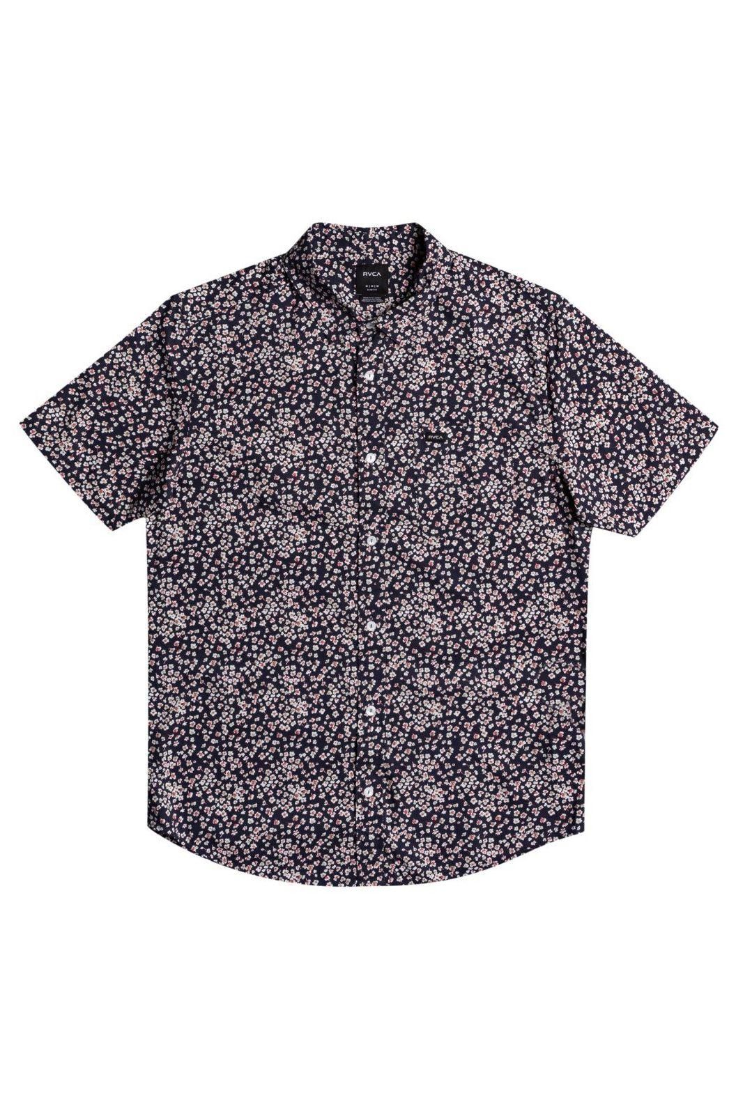 RVCA Shirt BANG ON SS Moody Blue
