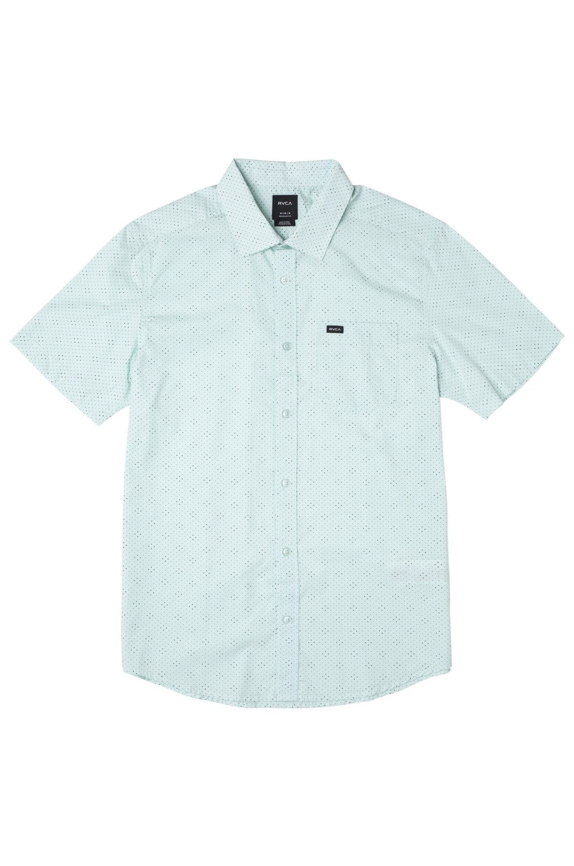 RVCA Shirt CARLO DOT SS Ice Blue