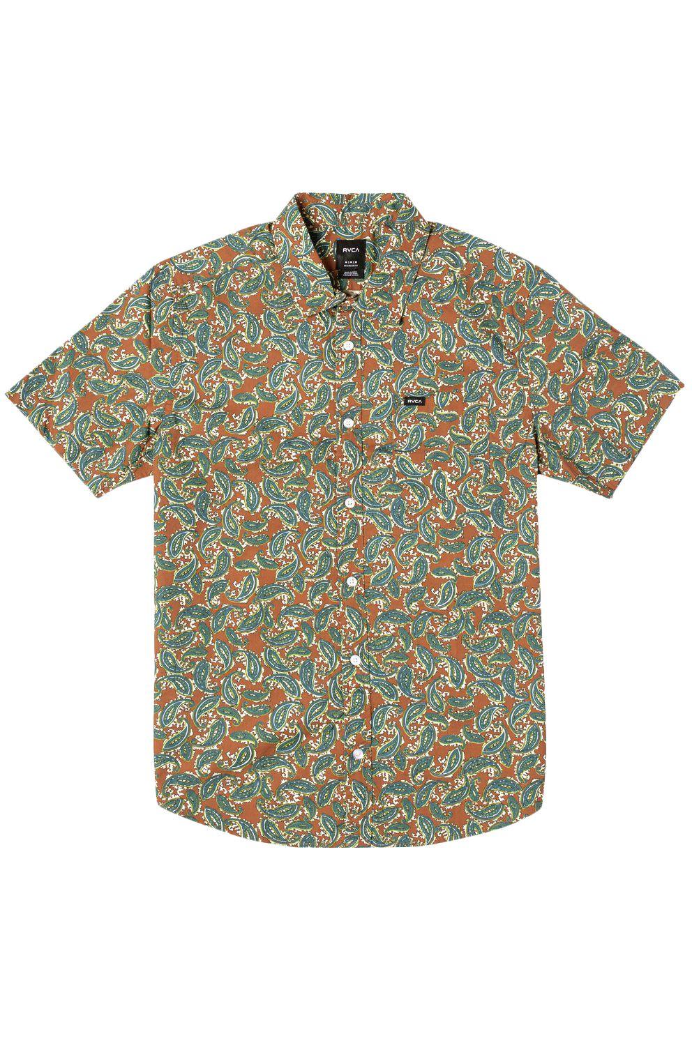 RVCA Shirt MIND FLOWER PAISLEY Clay