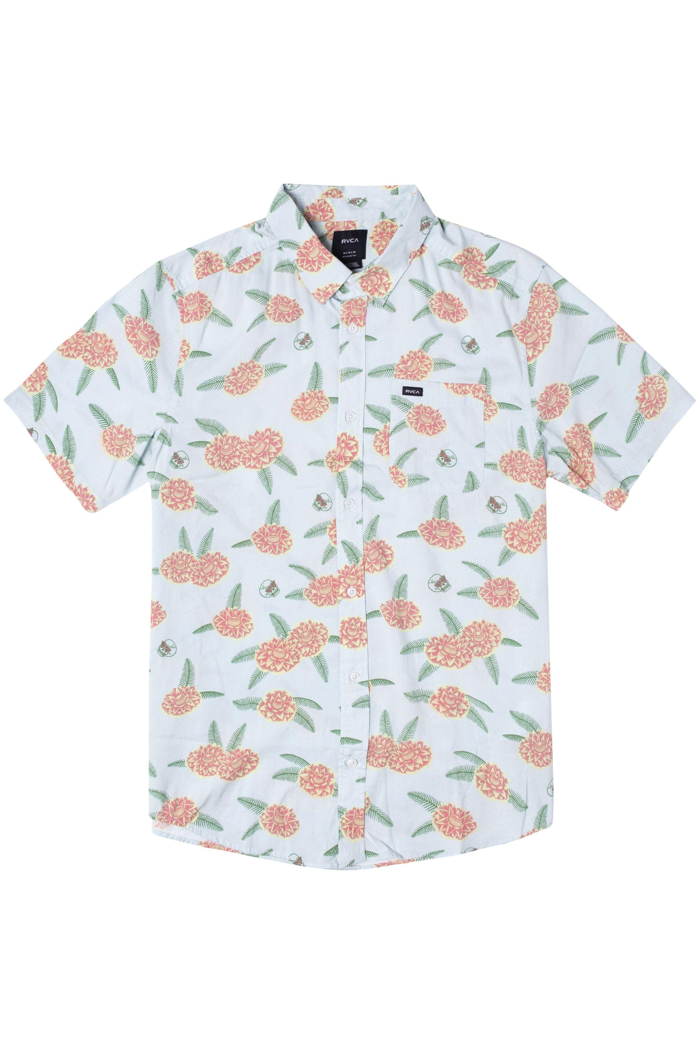 RVCA Shirt LUKE P FLORAL SS LUKE PELLETIER Green Tea