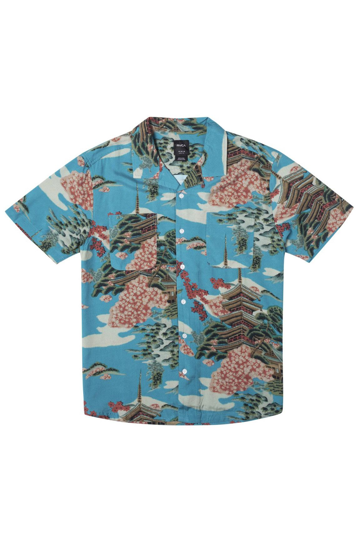 RVCA Shirt KYUKA SS Horizon Blue