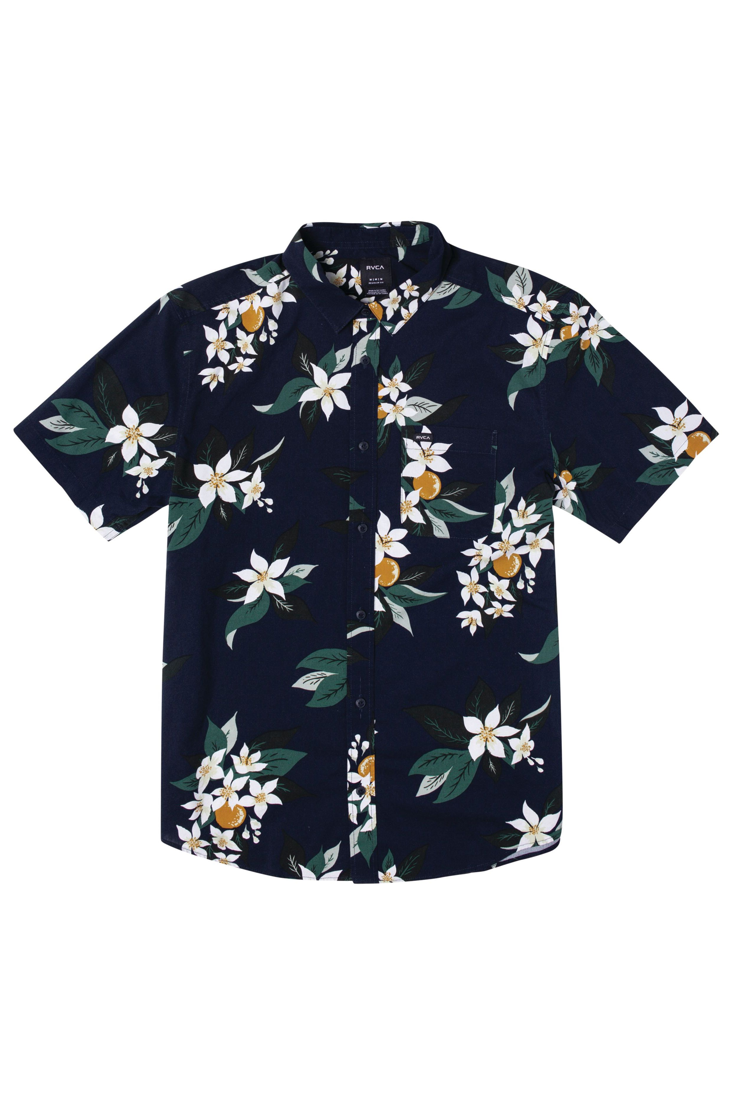RVCA Shirt ANAHEIM SS Navy Marine