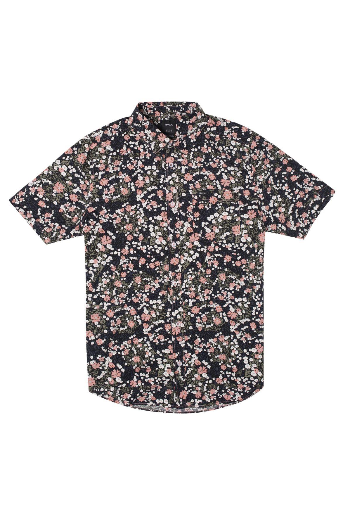 RVCA Shirt BARITONE SS Flamingo