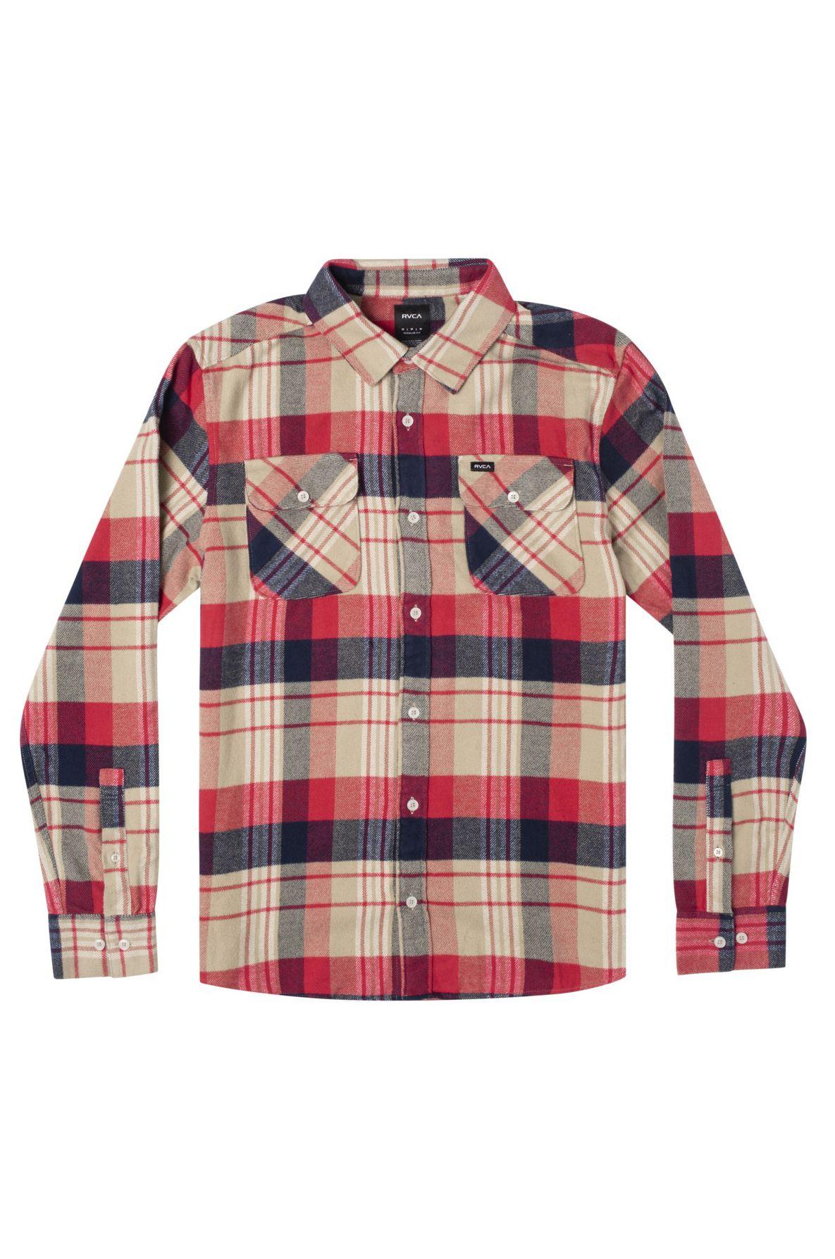 RVCA Shirt THATLL WORK FLANNEL Khaki