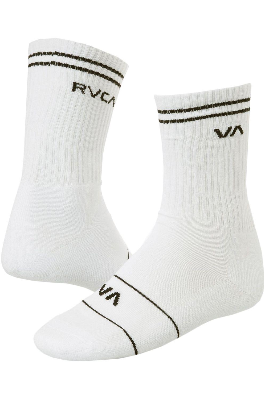 RVCA Socks UNION SKATE SOCK White