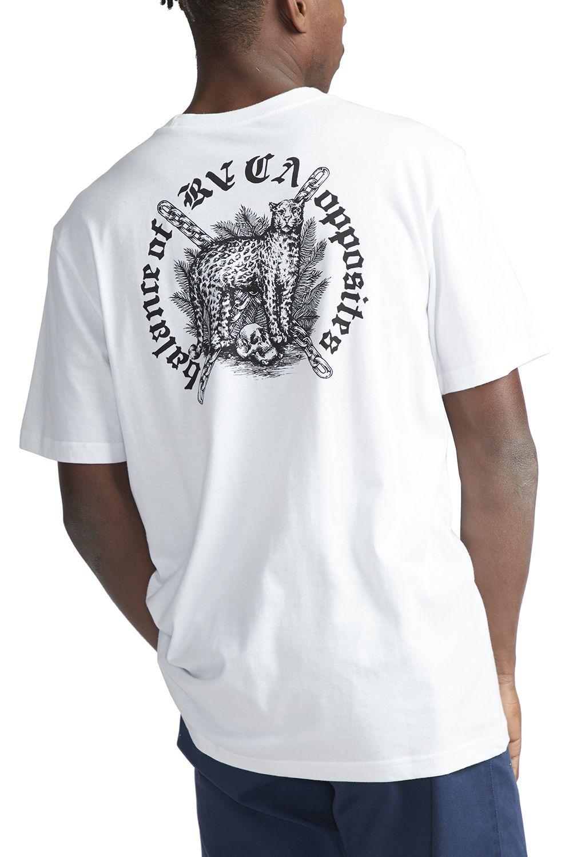 T-Shirt RVCA WILDCAT BENJAMIN JEAN JEAN White