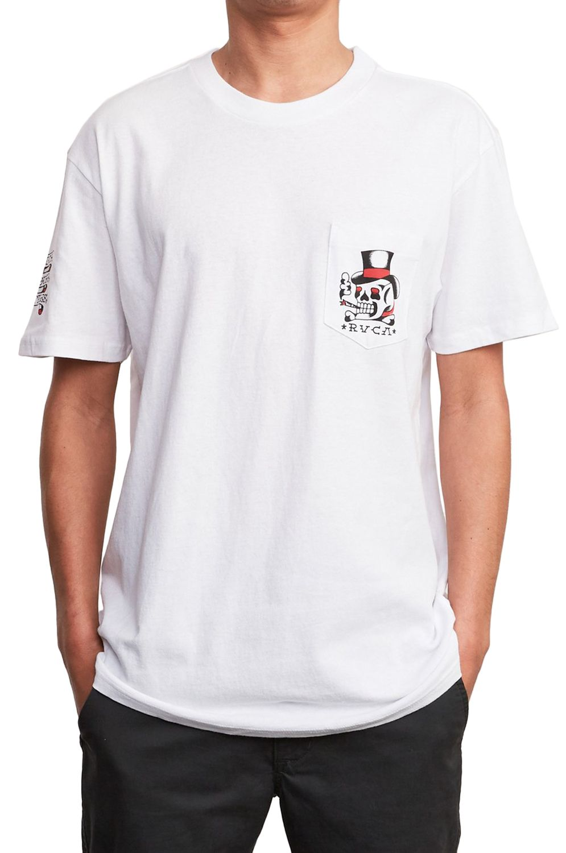 T-Shirt RVCA PICK YOUR BATTLES BERT KRAK White