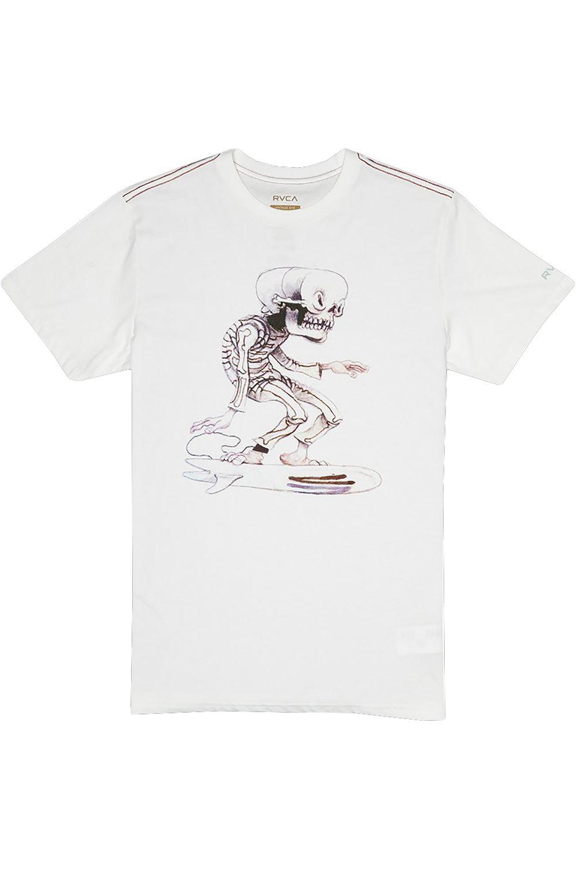 RVCA T-Shirt SKULL SURFER Antique White