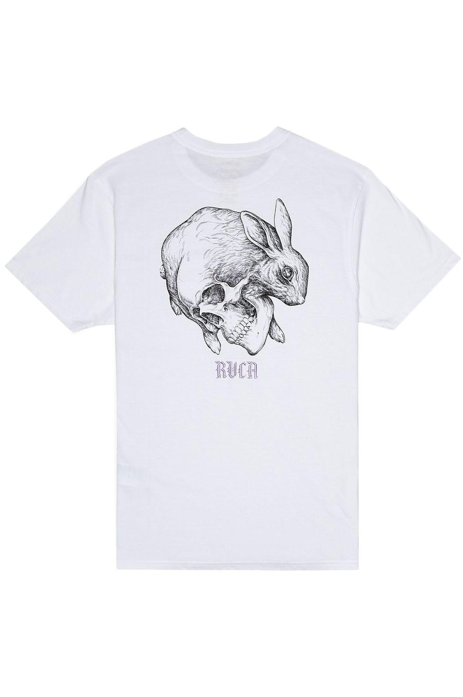 T-Shirt RVCA SKULL RABBIT White