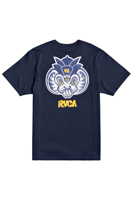 T-Shirt RVCA SNAKE SS ROBERTO RODRIGUEZ Moody Blue