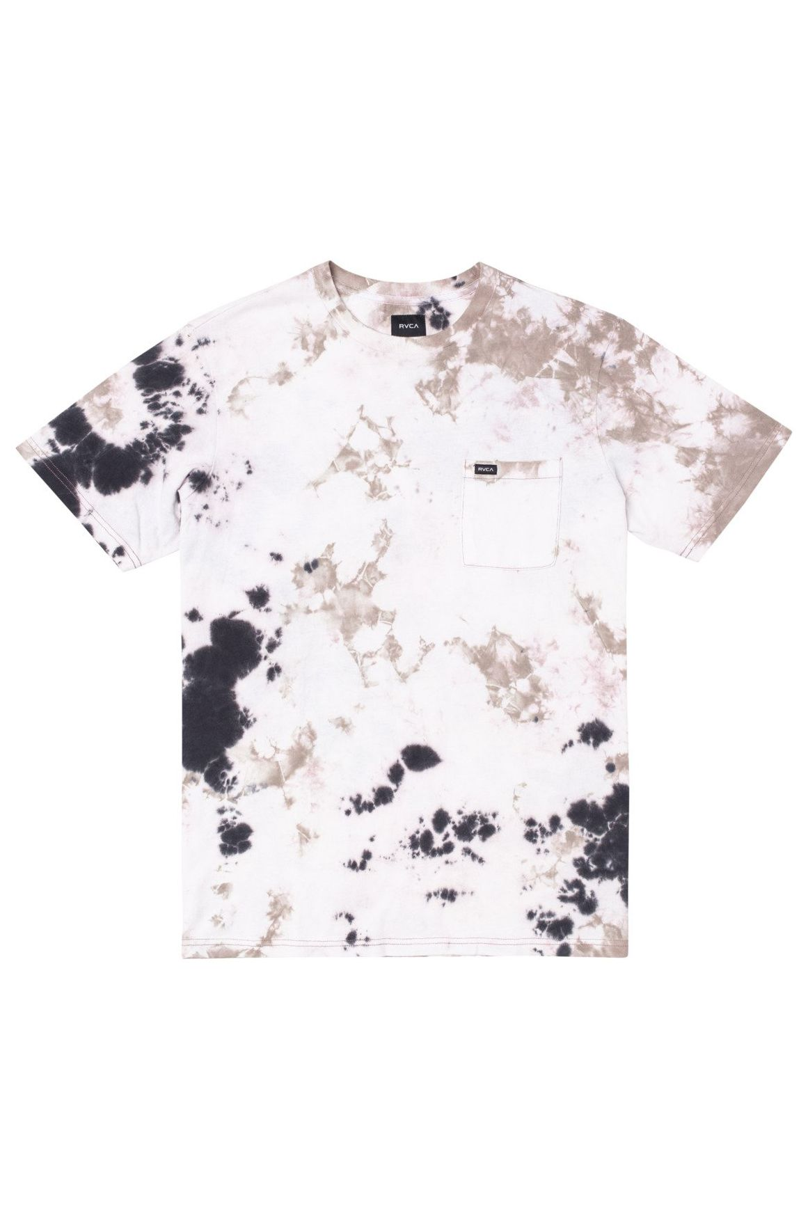 RVCA T-Shirt MANIC TIE DYE CREW Pale Mauve