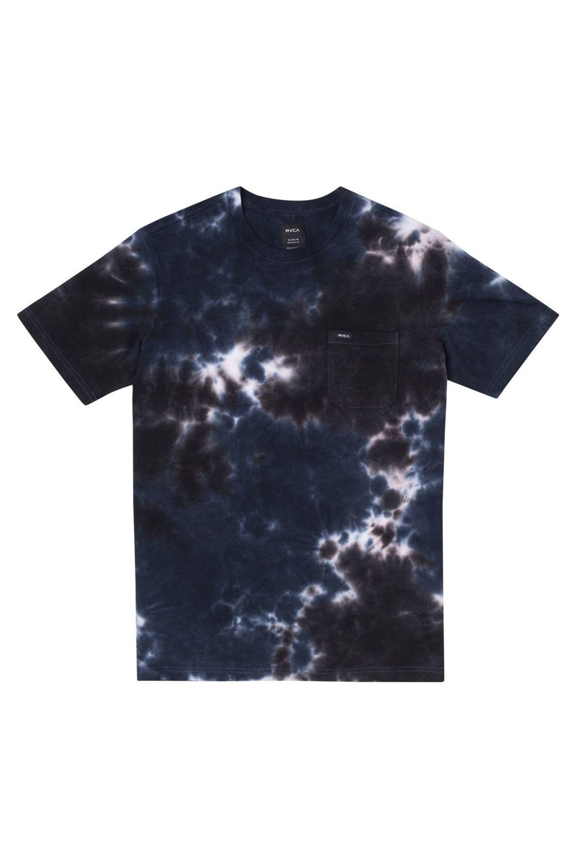 RVCA T-Shirt MANIC TIE DYE CREW Navy Tie Dye