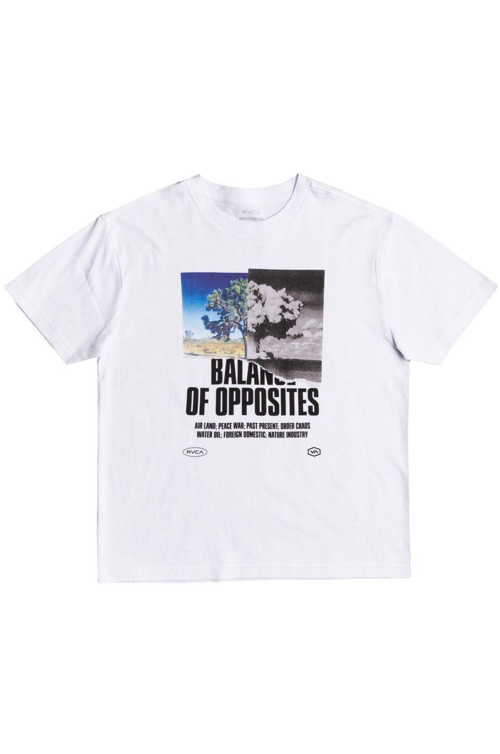 RVCA T-Shirt SPLIT TRUTH White