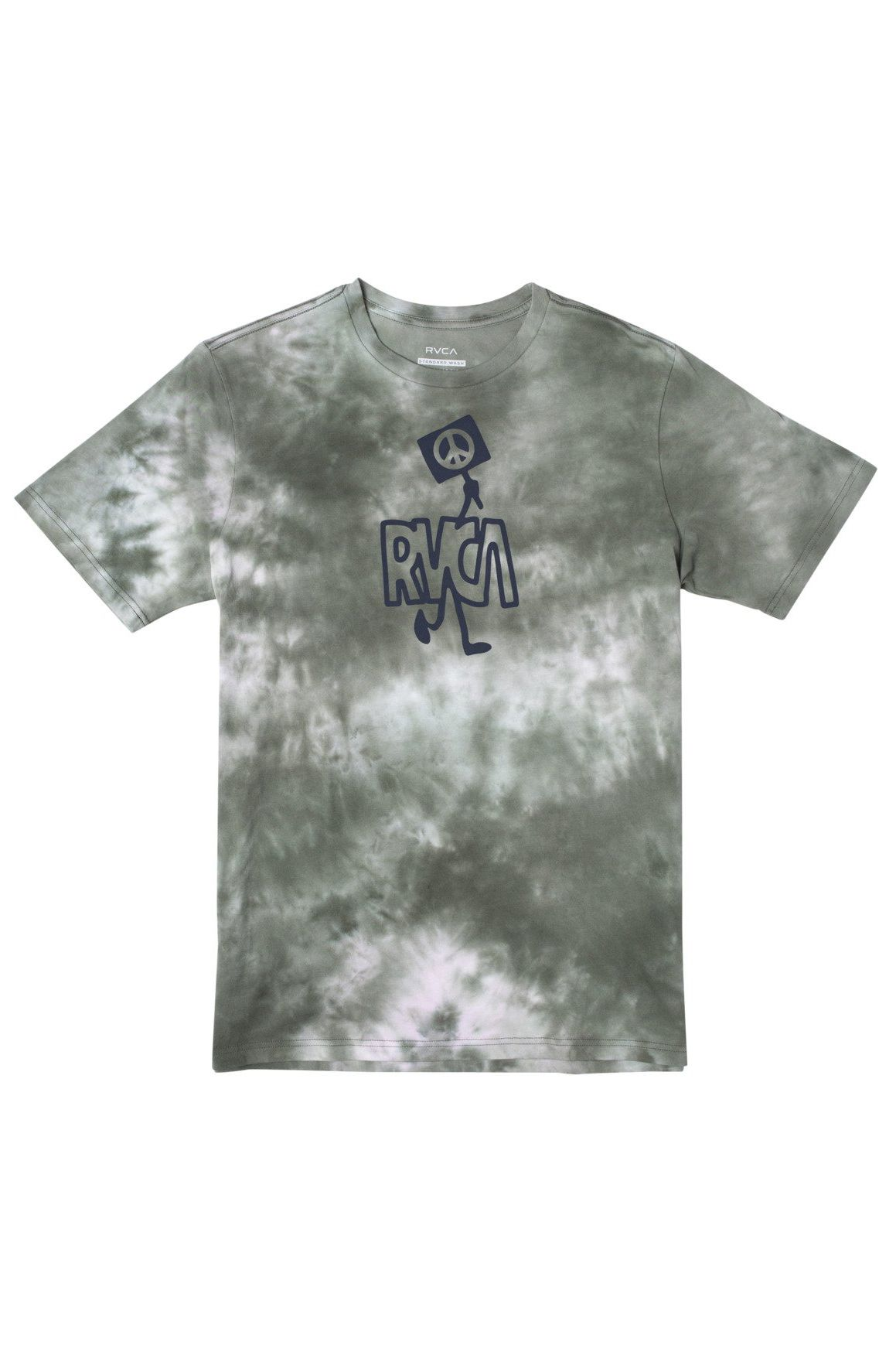 RVCA T-Shirt PEACE OUT SS Green