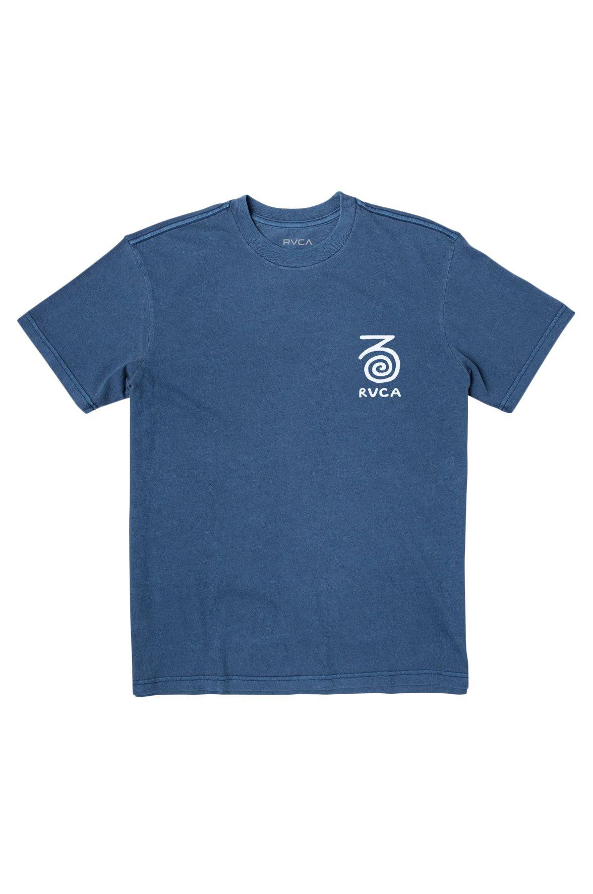 RVCA T-Shirt STRAITS SS BAILEY ELDER Cobalt