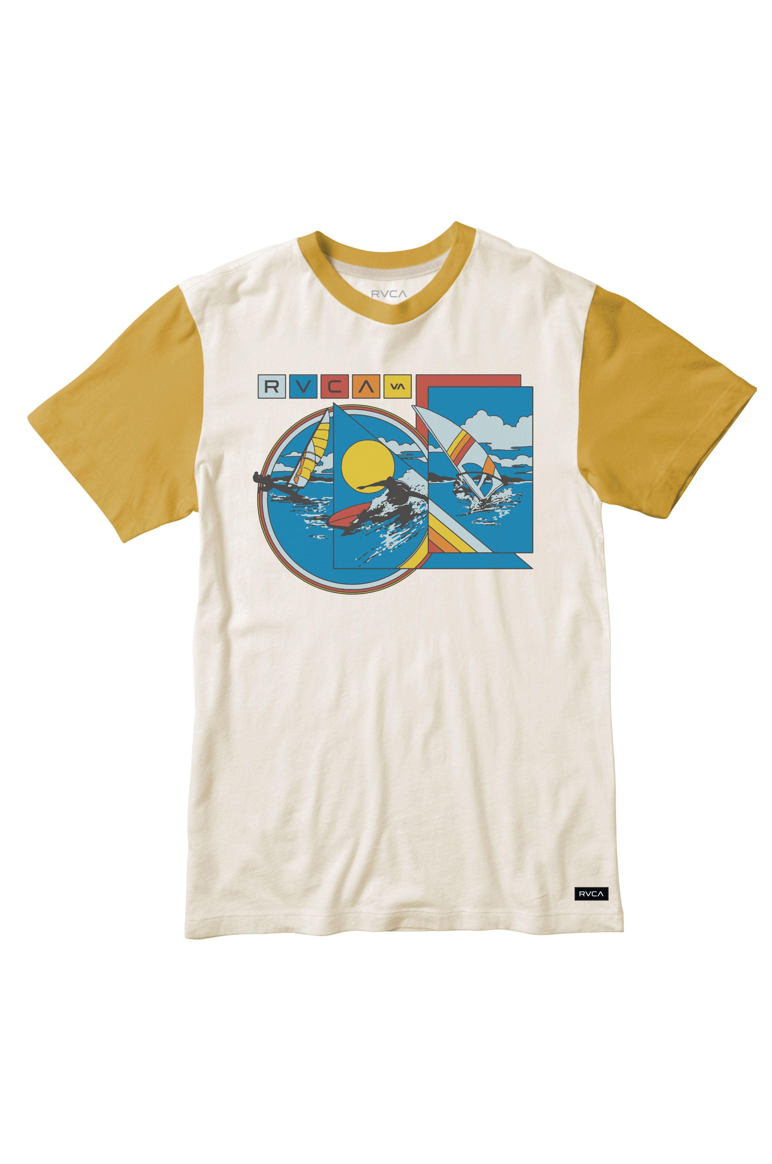 RVCA T-Shirt EVAN MOCK TOURIST BL EVAN MOCK Antique White