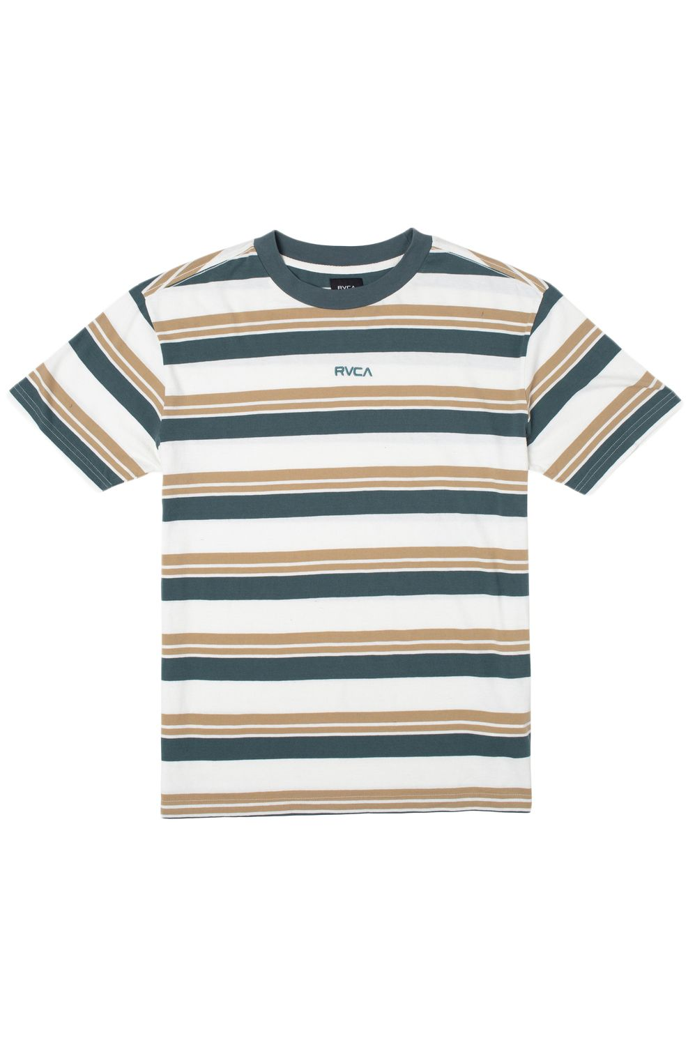 RVCA T-Shirt CURTIS STRIPE II SS Natural