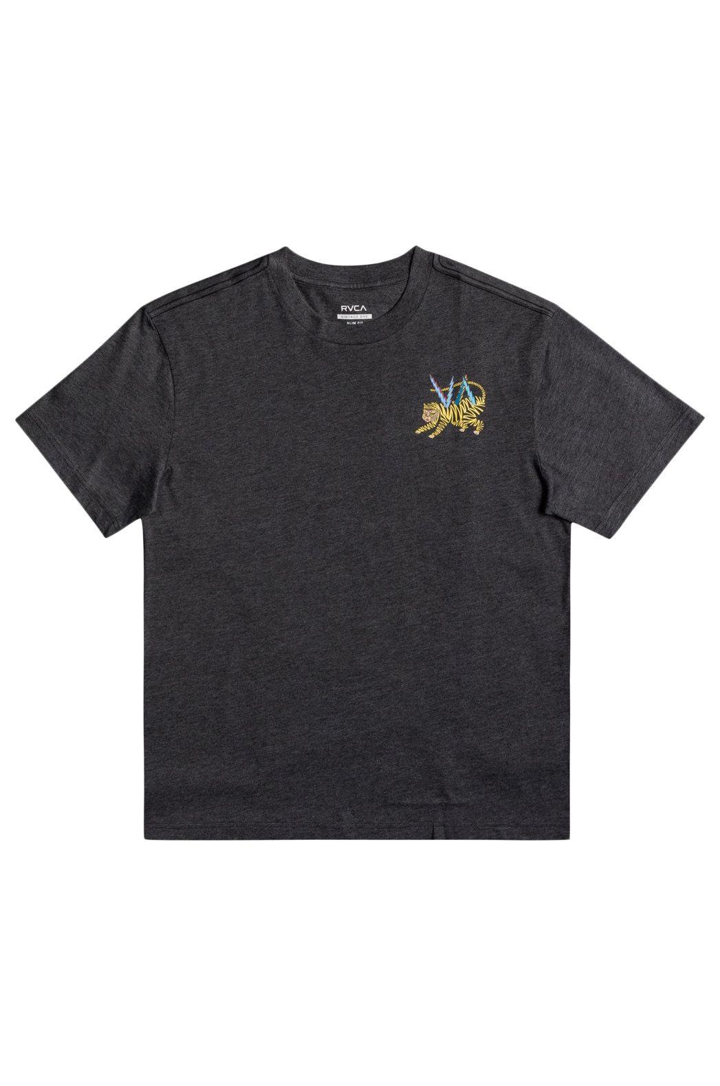 RVCA T-Shirt ML TIGER MATT LEINES Dark Charcoal