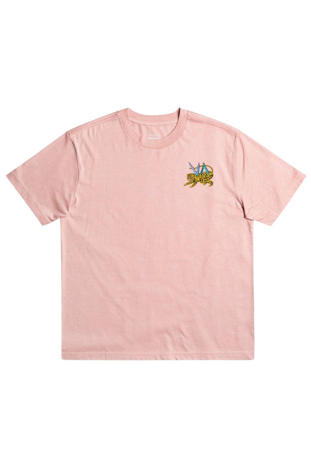 RVCA T-Shirt ML TIGER MATT LEINES Pale Mauve