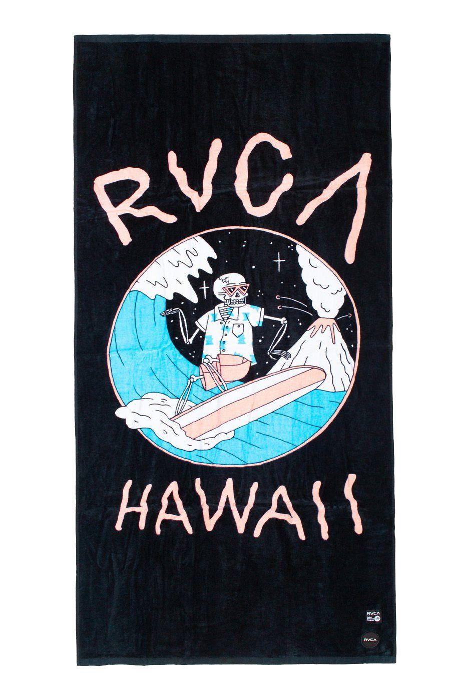 RVCA Beach Towel LUKE P SURF TOWEL LUKE PELLETIER Black