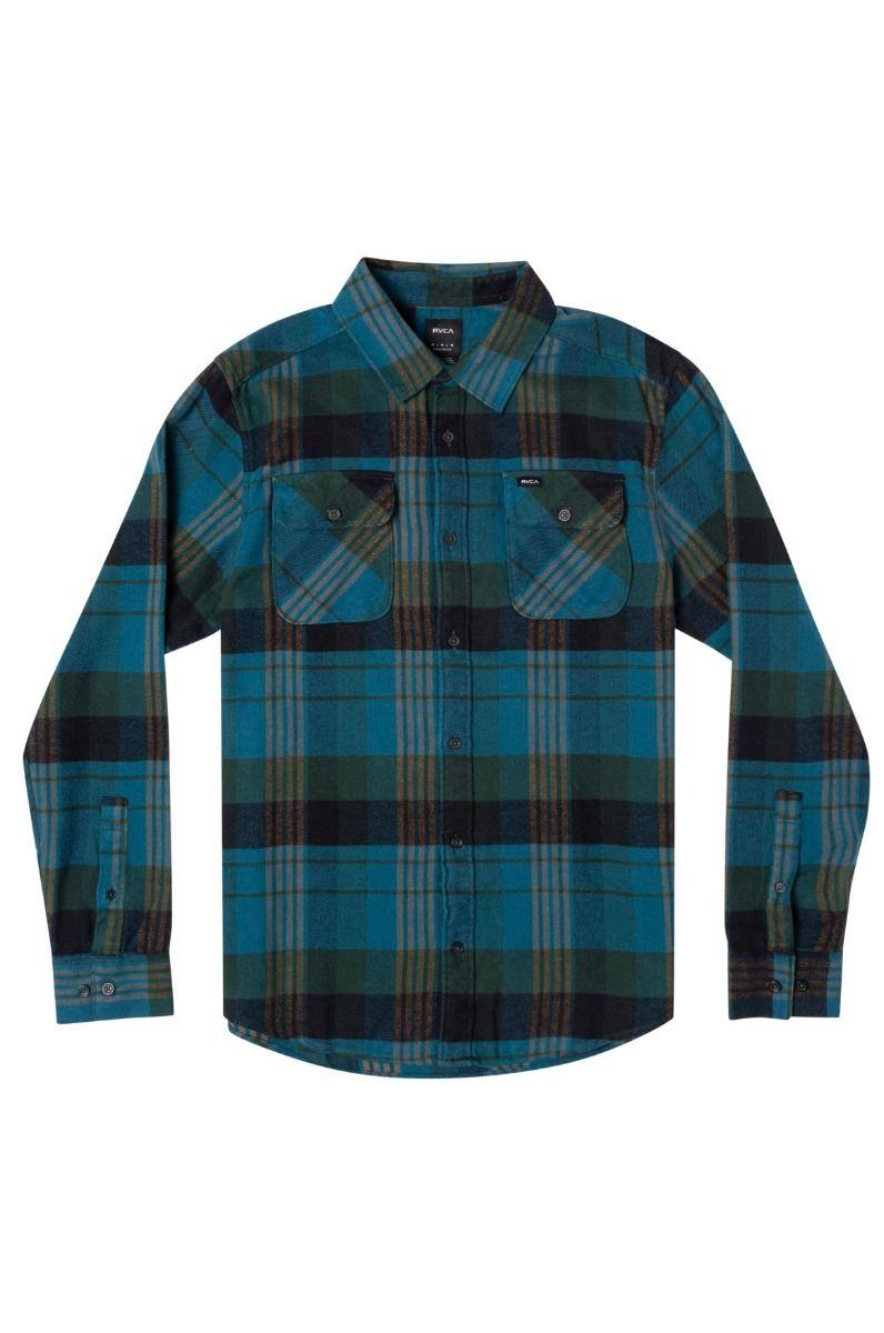 RVCA Shirt THATLL WORK FLANNEL Hunter Green