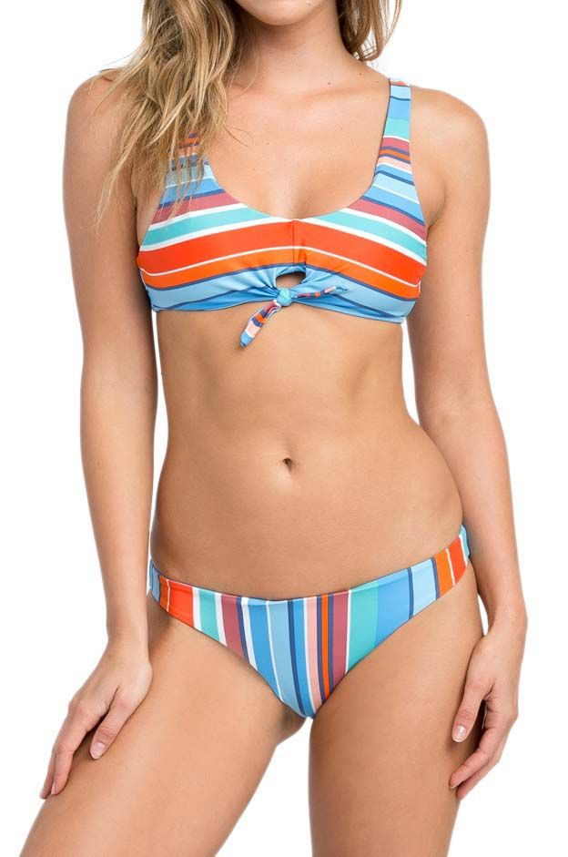 Bikini Top RVCA HORIZON STRIPE Blue Jay