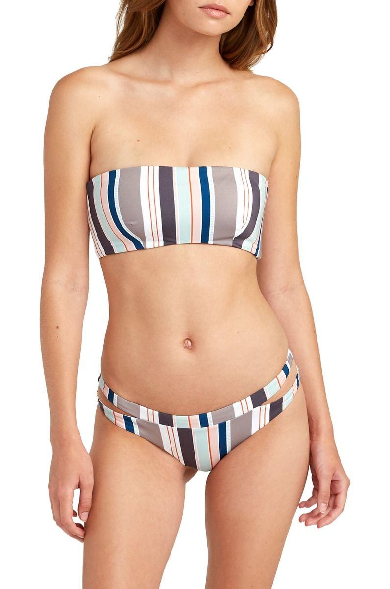 Bikini Tanga RVCA OFF SHORE STRIPE CHE TRENT WHITEHEAD Creme