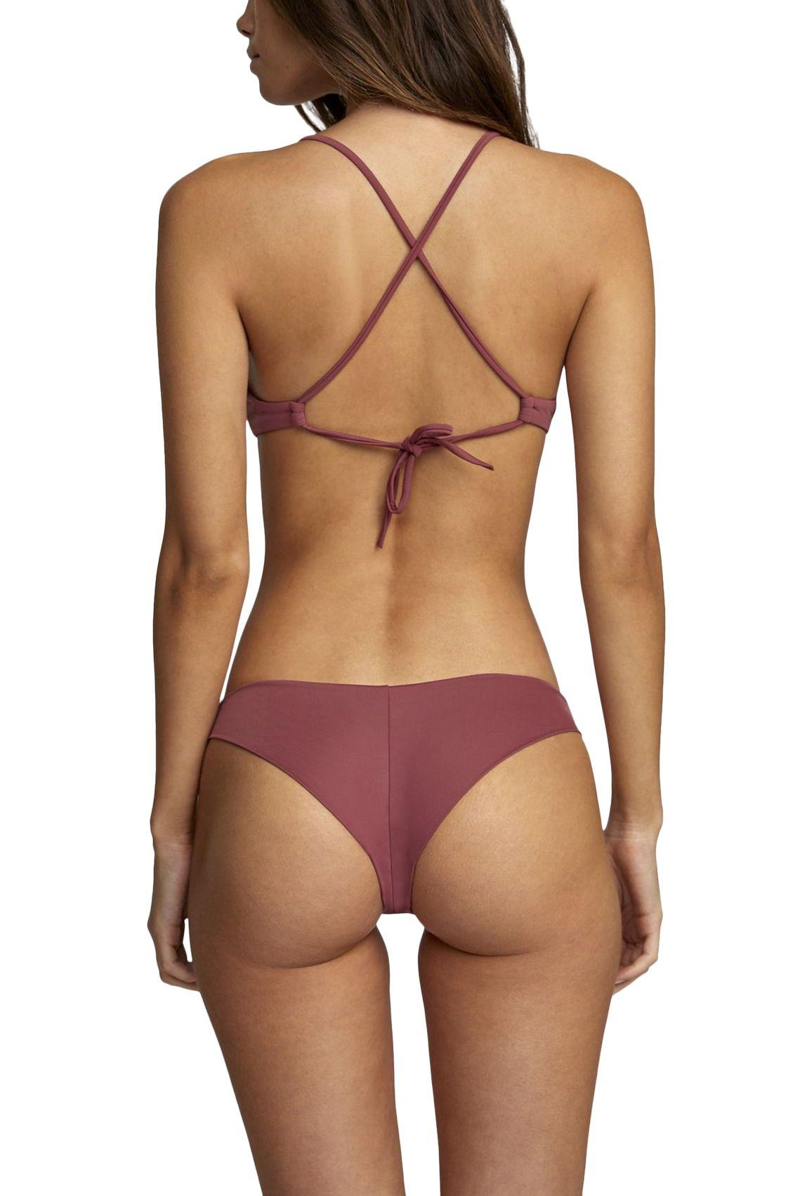 Bikini Top RVCA SOLID CROSSBACK Plumberry