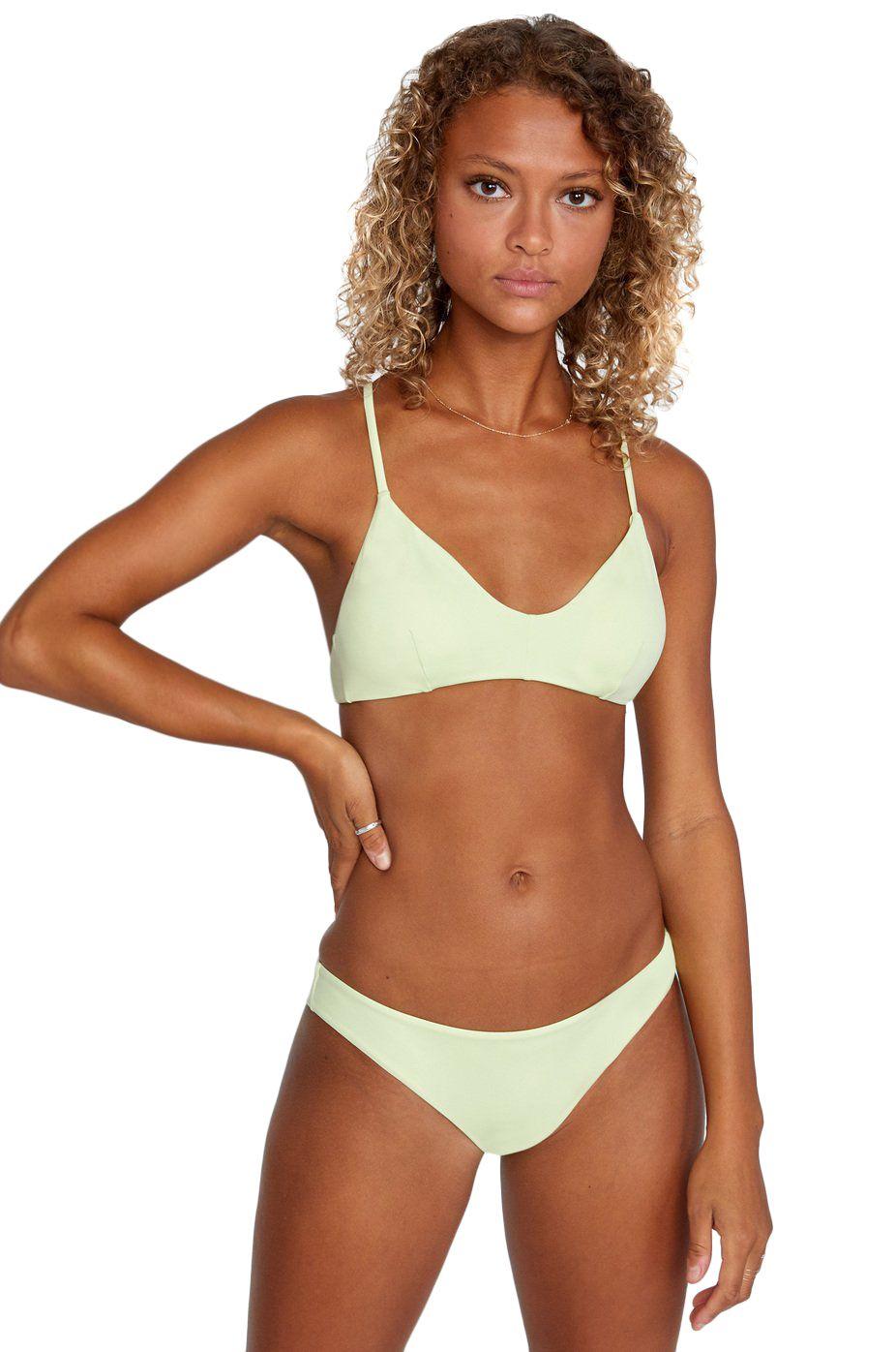 RVCA Bikini Top SOLID CROSSBACK Seagrass