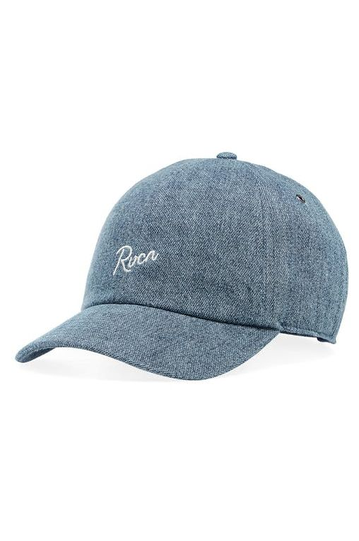 Bone RVCA STAPLE DAD HAT Washed Denim