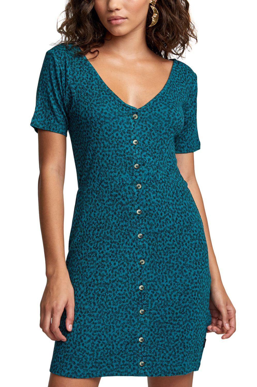 Vestido RVCA BLOOM DRESS Storm Green