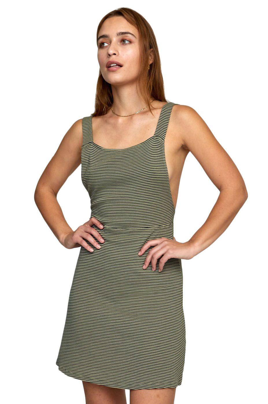 RVCA Dress BRONWEN DRESS Khaki Sage