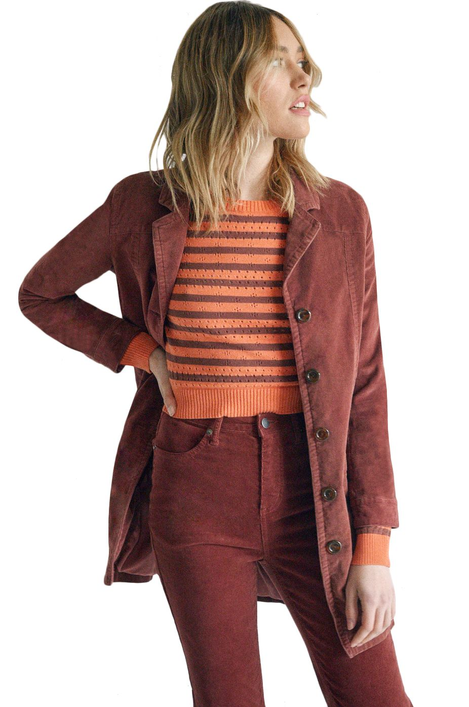 RVCA Jacket PARADIS COAT CAMILLE ROWE Cinnamon