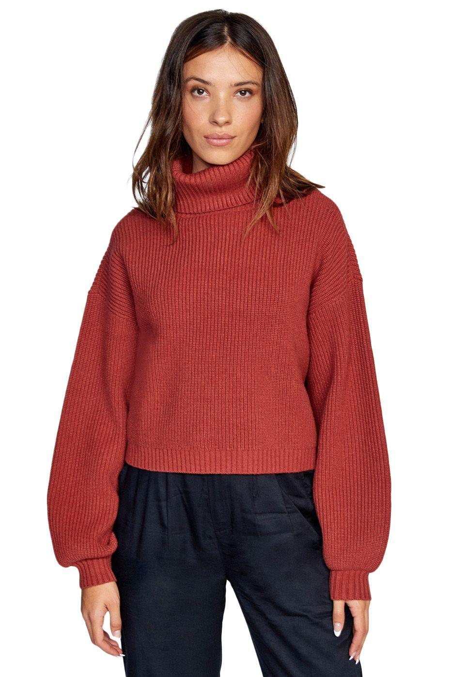 RVCA Sweater CITIZEN SWEATER Rosewood
