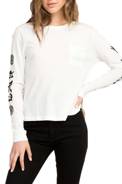 L-Sleeve RVCA ROSE & ROSES Vintage White