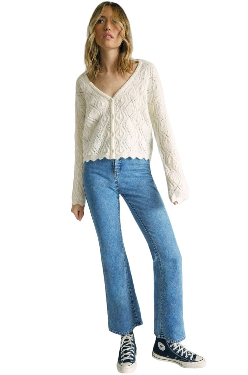 RVCA Pants LIVIN CAMILLE ROWE Blue