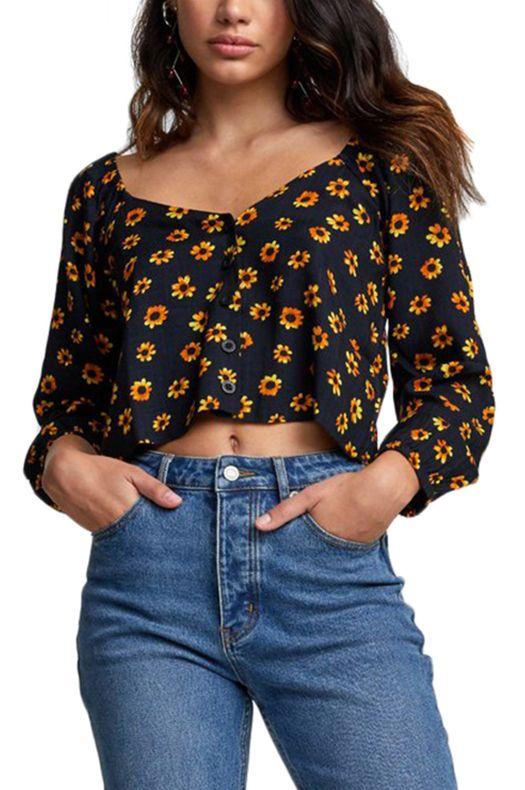 RVCA Shirt CARTIA Black