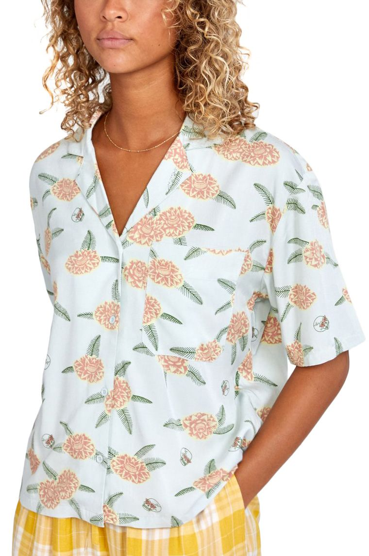 RVCA Shirt LUKE FLORAL TOP LUKE PELLETIER Green Tea