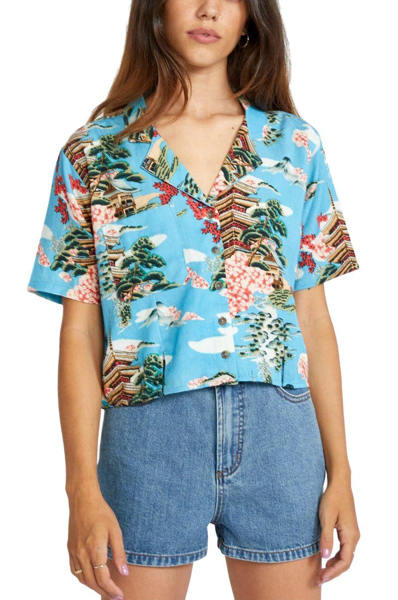 RVCA Shirt VACAY Horizon Blue