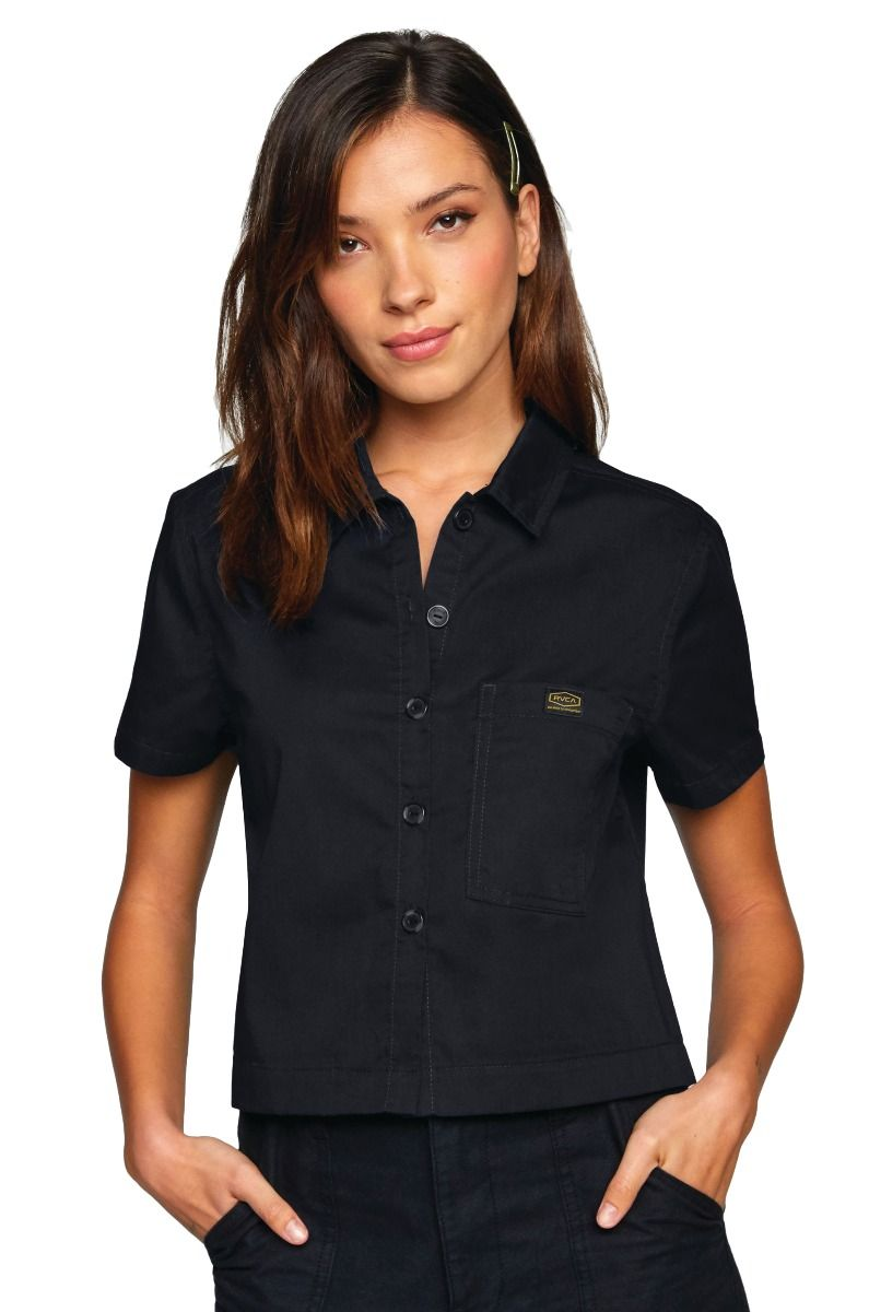 RVCA Shirt RECESSION SHIRT RECESSION COLLECTION Rvca Black