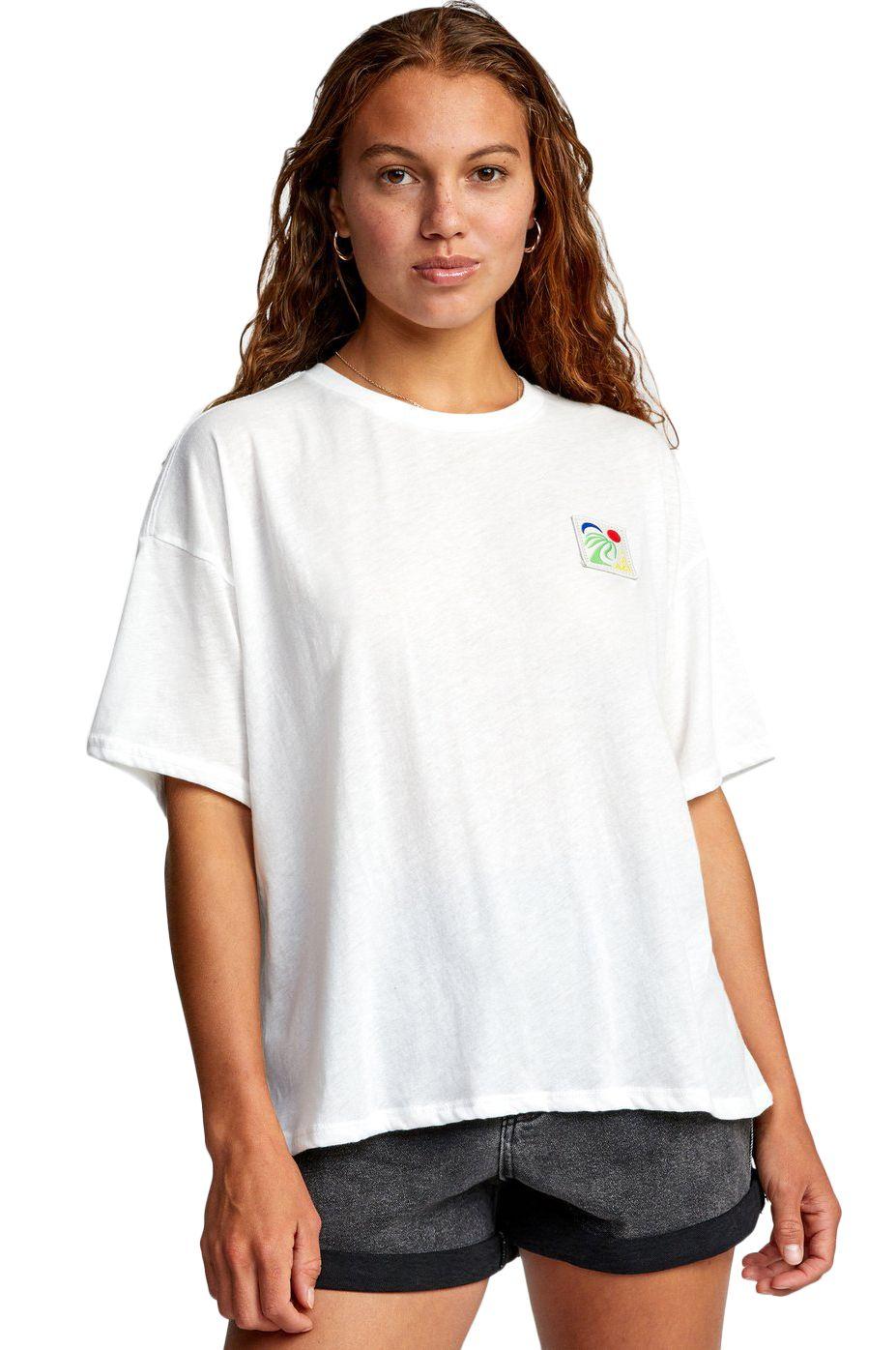 RVCA T-Shirt OASIS SS BAILEY ELDER Vintage White