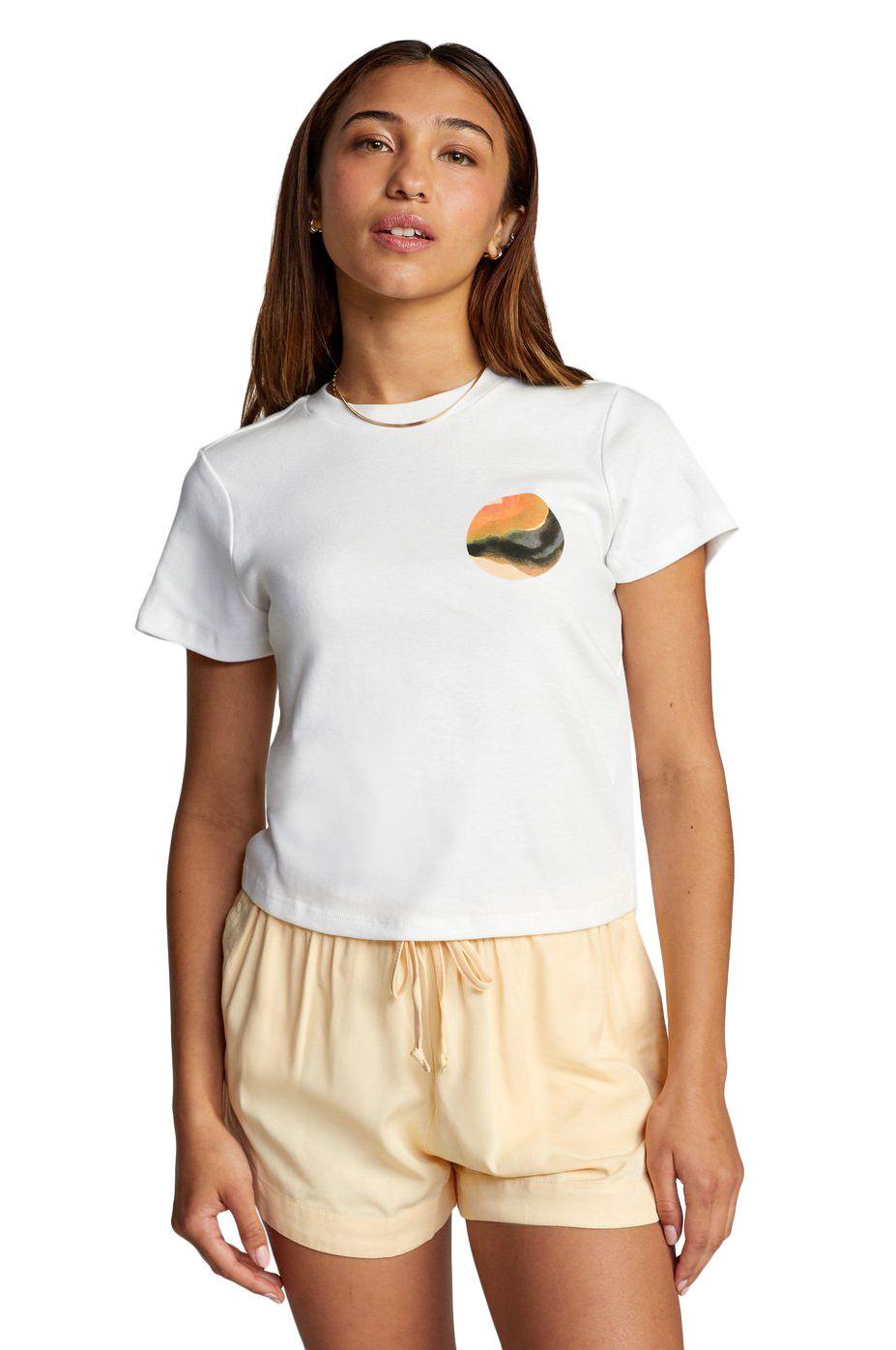 RVCA T-Shirt DANA HUES SS DANA TRIPPE Vintage White