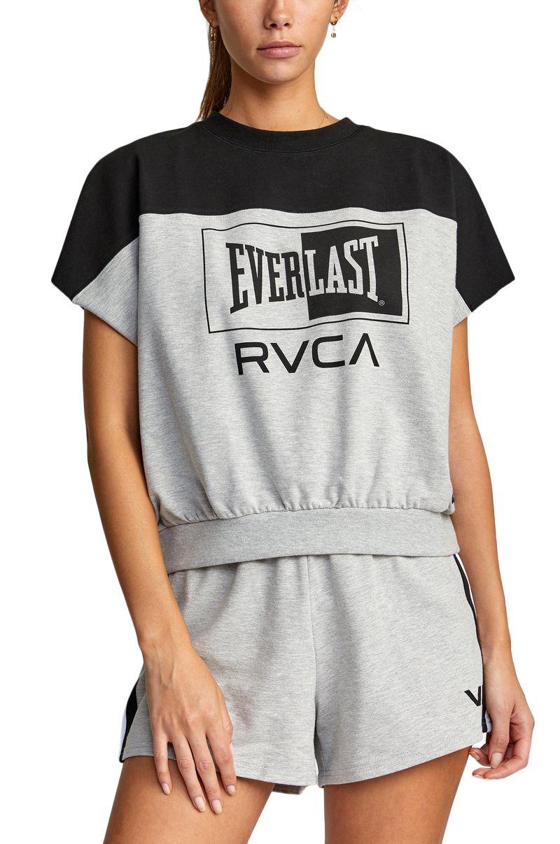 Top RVCA EVERLAST DOLMAN TOP Heather Grey