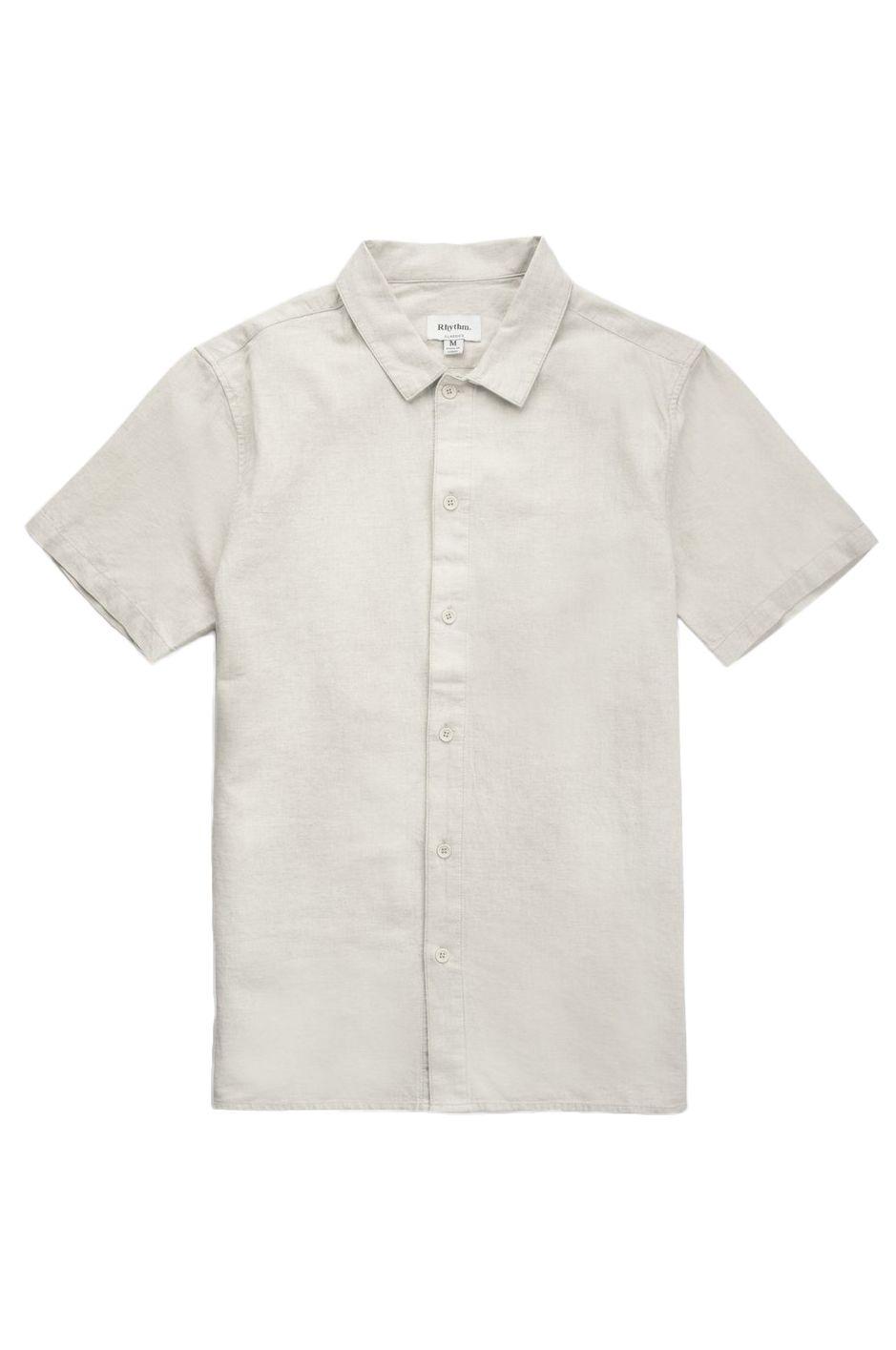 Rhythm Shirt CLASSIC LINEN SS SHIRT Sand