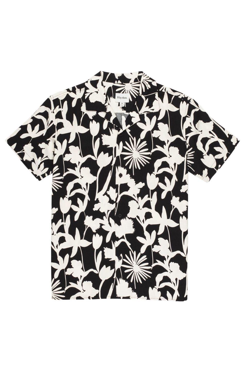 Rhythm Shirt MELROSE LINEN SS SHIRT Black