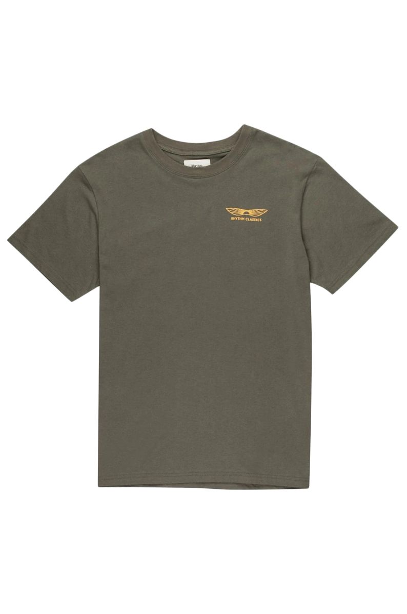 Rhythm T-Shirt ESSENT SUNDOWN T-SHIRT Olive