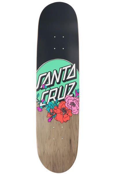 "Santa Cruz Skate Board 8.25"" X 31.8"" FLORAL DOT TAPER TIP Flowers"